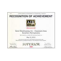 ALB recognition of achievement award