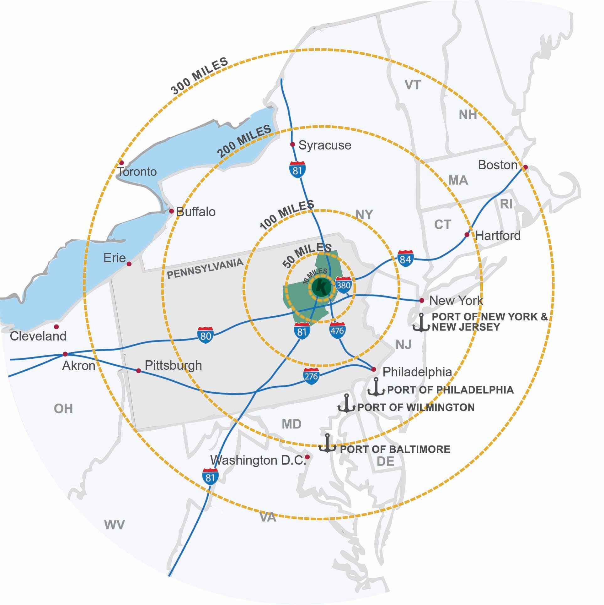 Scranton-radius-map