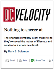 DC Velocity Nothing To Sneeze At
